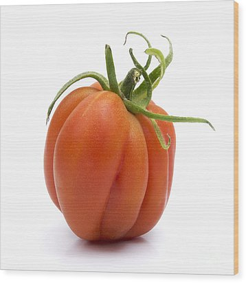 Tomato Wood Print by Bernard Jaubert