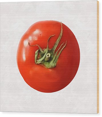 Wood Print featuring the digital art Tomato by David Blank