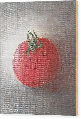 Wood Print featuring the painting Tomato by Jane  See