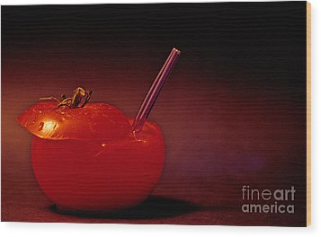 Wood Print featuring the photograph Tomato Juice by Sharon Elliott