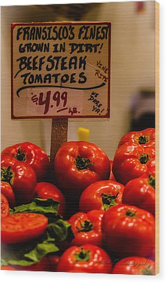 Wood Print featuring the photograph Tomatoes by Allen Biedrzycki