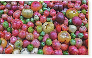 Wood Print featuring the photograph Tomatoes by Bill Owen