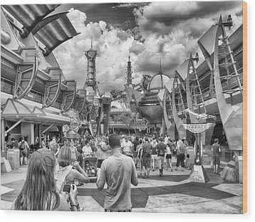 Wood Print featuring the photograph Tomorrowland by Howard Salmon