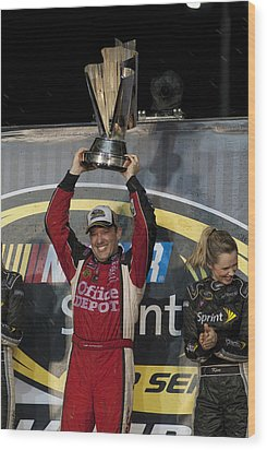 Tony Stewart Cup Champ 3 Wood Print by Kevin Cable