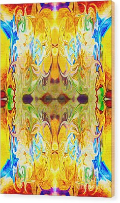 Tony's Tower Abstract Pattern Artwork By Tony Witkowski Wood Print by Omaste Witkowski