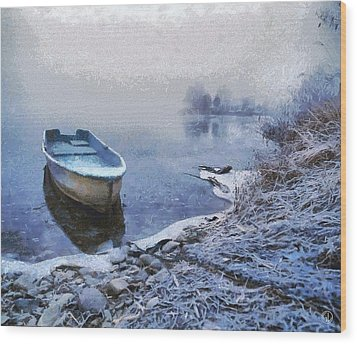 Too Cold For A Boat Trip Wood Print by Gun Legler