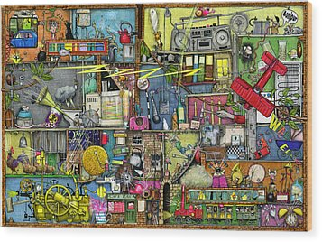 Too Loud Wood Print by Colin Thompson