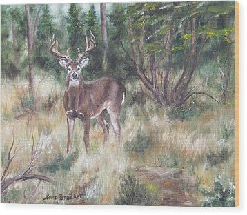 Wood Print featuring the painting Too Tempting by Lori Brackett