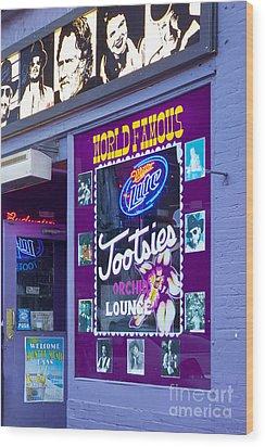 Tootsies Nashville Wood Print by Brian Jannsen