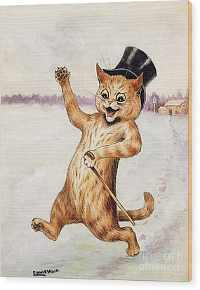 Top Cat Wood Print by Louis Wain