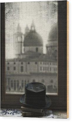 Top Hat Wood Print by Joana Kruse