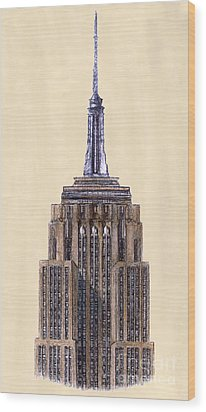 Top Of Empire State Building New York City Wood Print by Gerald Blaikie