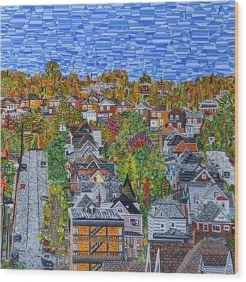 Top Of Hoosac Street Wood Print by Micah Mullen
