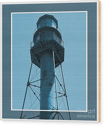 Wood Print featuring the photograph Top Of Sanibel Island Lighthouse by Janette Boyd