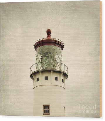 Top Of The Lighthouse Wood Print by Scott Pellegrin