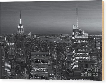 Top Of The Rock Twilight V Wood Print by Clarence Holmes
