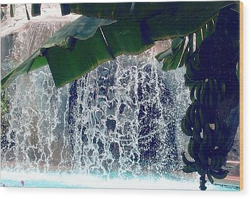 Wood Print featuring the photograph Topical Water Fall by Judy Palkimas