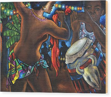 Wood Print featuring the painting Topless Dancer by Artists With Autism Inc