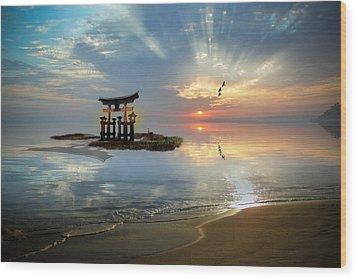 Tori Sunset Wood Print by John Swartz