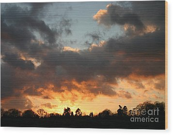 Tormented Sky Wood Print