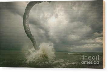 Tornado Wood Print by Boon Mee