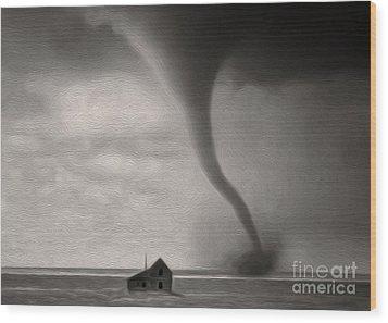 Tornado Wood Print by Gregory Dyer