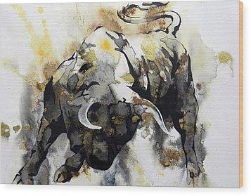 Toro 2 Wood Print by J- J- Espinoza