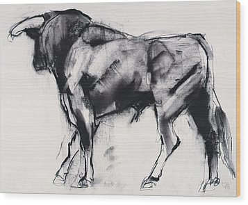 Toro Azul   Study Wood Print by Mark Adlington