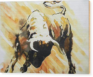 Toro Wood Print by J- J- Espinoza