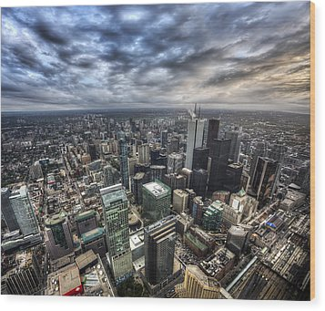 Toronto Daybreak Wood Print by Shawn Everhart