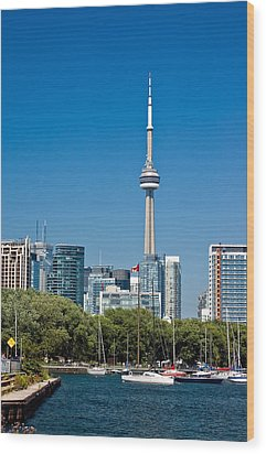 Toronto Harbour Wood Print by Steve Harrington