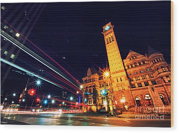 Toronto Old City Hall Wood Print by Charline Xia