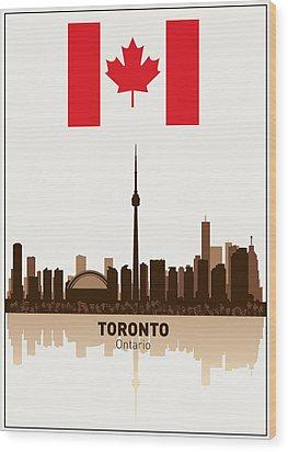 Toronto Ontario Canada Wood Print by Daniel Hagerman