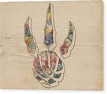 Toronto Raptors Logo Art Wood Print by Florian Rodarte