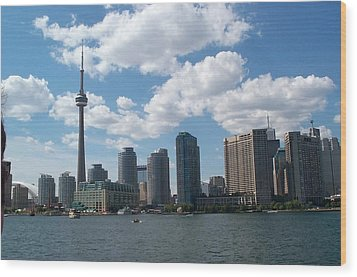 Wood Print featuring the photograph Toronto Skyline by Barbara McDevitt
