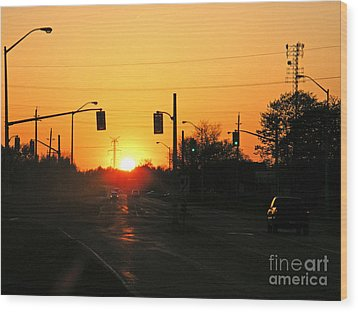 Wood Print featuring the photograph Toronto - Urban Sunset by Phil Banks