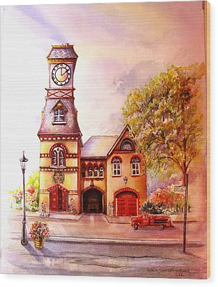Toronto's Old Yorkville Fire Hall Wood Print by Patricia Schneider Mitchell