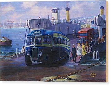 Torpoint Ferry. Wood Print by Mike  Jeffries