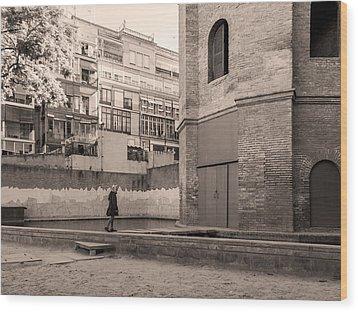 Torre De Las Aguas, Barcelona Wood Print