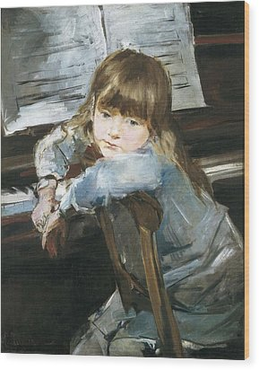 Torrescassana, Francesc 1845-1918. Girl Wood Print by Everett