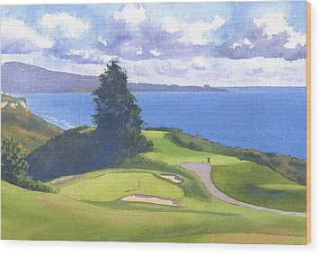 Torrey Pines Golf Course North Course Hole #6 Wood Print by Mary Helmreich