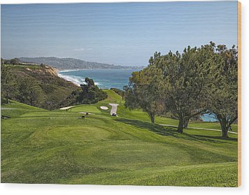 Torrey Pines Golf Course North 6th Hole Wood Print by Adam Romanowicz