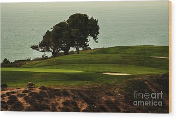 Torrey Pines Golfcourse Wood Print