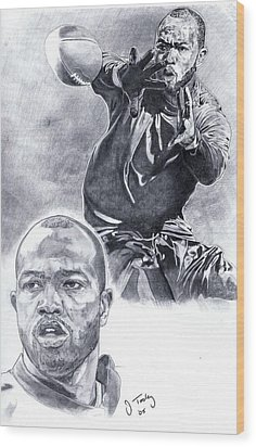 Torry Holt Wood Print by Jonathan Tooley