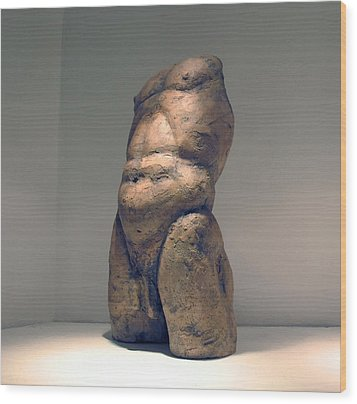 Torso And Bottom Wood Print by Flow Fitzgerald