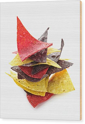 Tortilla Chips Wood Print by Elena Elisseeva