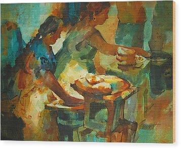 Tortillas Caliente Wood Print