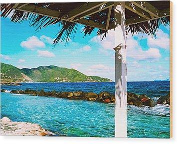 Tortola Cabana Wood Print