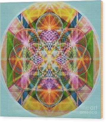 Torusphere Synthesis Bright Beginning Soulin I Wood Print by Christopher Pringer
