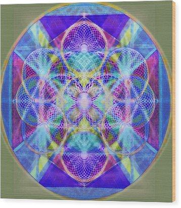 Torusphere Synthesis Vioblu Warrior Soulin II Wood Print by Christopher Pringer
